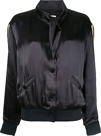 Zoe Karssen scarf collar bomber jacket - Black