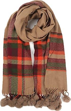 Your Dezire YDezire Warm Winter Women Check Tartan Pom Pom Scarf Large Shawl Tassels Ladies Scarf Wraps UK (Camel)