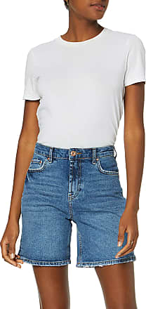 Pieces Womens Pcleah Mom Hw Shorts Mb213-ba/noos, Blue (Medium Blue Denim Medium Blue Denim), 16 (Size: X-Large)