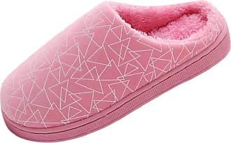 Yvelands Winter Slippers Men Women, Casual Slip On Flat Soft Warm Non-Slip Couple Cotton Bedroom Slippers Shoes for Ladies Plush Slipper Sale Pink