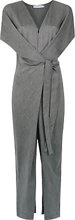 Mara Mac Macacão longo com amarração - Cinza