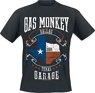 Gas Monkey Garage Texas Flag Men T-Shirt Black 4XL, 100% Cotton, Regular