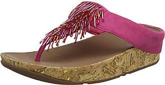 2fd016520261 FitFlop Cha Cha - Sandales Bout ouvert - Femme - Pink (Bubblegum) - 36