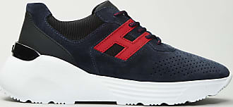 Reposi Calzature Hogan - Active One - Sneakers in suede blu e rosse