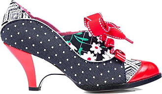 Irregular Choice Force of Beauty Black Red Womens Heels Shoes