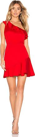 About Us Kloe Ruffle Mini Dress in Red