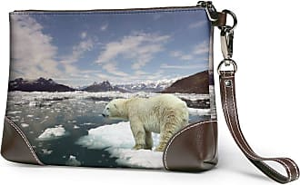 GLGFashion Womens Leather Wristlet Clutch Wallet Bear Picture Storage Purse With Strap Zipper Pouch