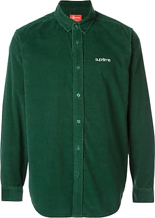 SUPREME corduroy button up shirt - Green