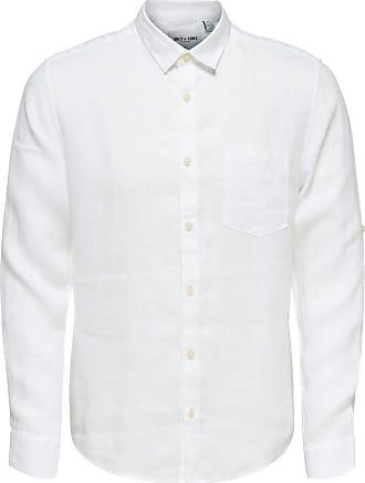 Only & Sons Mens onsLUKE LS Linen Shirt NOOS Casual, White (White), XL