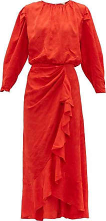 Johanna Ortiz Cuentos Y Relatos Jacquard-satin Midi Dress - Womens - Red