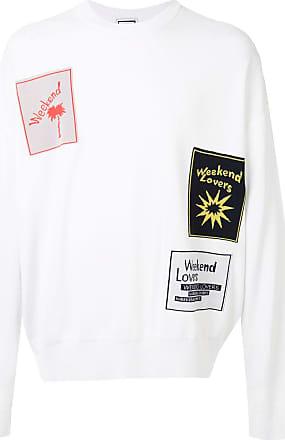 Wooyoungmi Suéter de tricô com patchwork - Branco