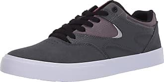 DC Mens Kalis Vulc Skate Shoe, Grey/Black/Red, 10 UK