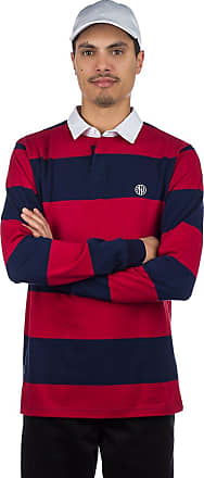 02a466ab7 Ninth Hall Ruggers Rugby Polo Long Sleeve T-Shirt navy / red