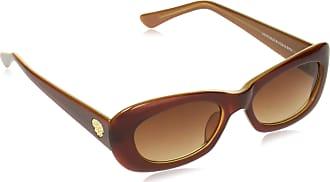 Vince Camuto Womens Vc843 Brn Non-polarized Iridium Rectangular Sunglasses, Brown, 65 mm