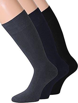 3 Paar Damen Socken ohne Gummi superweich 90/% Wolle schwarz  35 bis 42