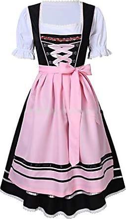 Fashion4Young 4211 Damen Dirndl 3 TLG.Trachtenkleid Kleid Bluse Sch/ürze Oktoberfest 4 Farben 4 Gr/ö/ßen