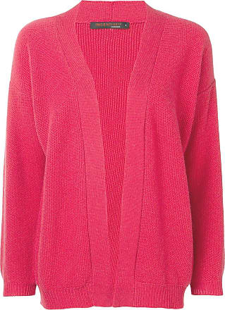 Incentive! Cashmere Cardigan de cashmere com abertura frontal - Vermelho