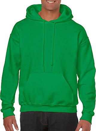 Gildan mensG18500Heavy Blend Fleece Hooded Sweatshirt G18500 Long Sleeve Shirt - Green - Medium
