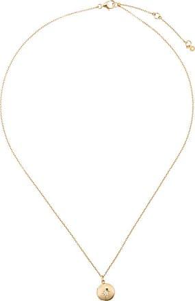 Astley Clarke Medalhão Biography com safira - Dourado