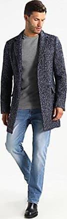 c6250290ff492e Tommy Hilfiger MW0M103722-031 Donegal Coat 100% Wool Grey-Blue Slim Fit (
