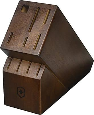 Victorinox by Swiss Army 10-Slot Hardwood Knife Block, Holds 9 Knives and Steel Sharpener
