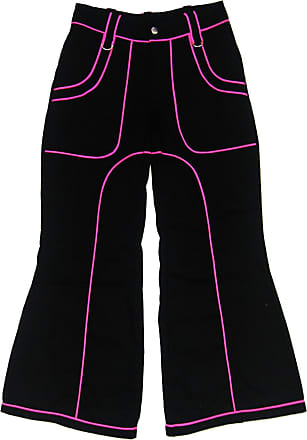Insanity Womens Pink Cyber Gothic Bondage Jeans Trousers Alternative Flared Baggy Emo (36 Waist)