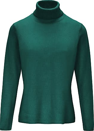 include Roll-neck jumper in pure new wool and cashmere include green