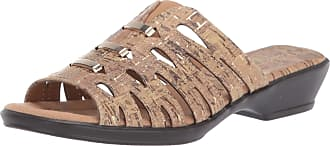 Easy Street Womens Petunia Slide Sandal, Cork, 7.5 Narrow