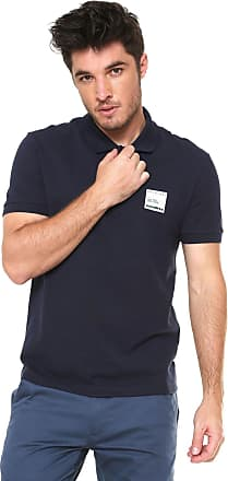02acb71486 Lacoste Camisa Polo Lacoste Reta Tag Azul-marinho