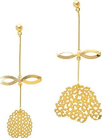 Tinna Jewelry Brinco Dourado Flor E Botão