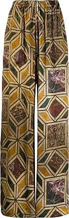Uma Wang geometric marble print trousers - NEUTRALS
