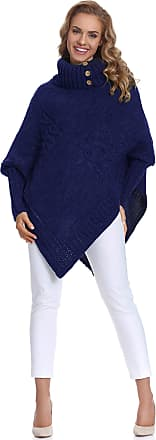 Merry Style Womens Poncho Moena(Dark Blue, One Size)