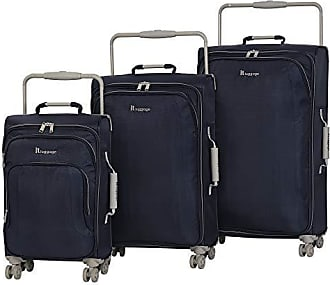 IT Luggage IT Luggage Worlds Lightest 8 Wheel 3 Piece Set, Evening Blue With Cobblestone Trim