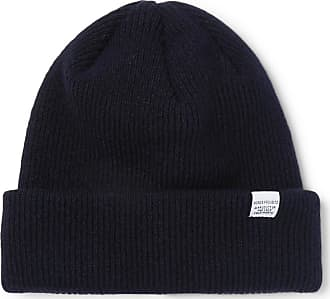 Norse Projects Ribbed Wool Beanie - Navy