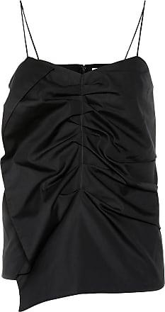 Victoria Beckham Ruched cotton tank top