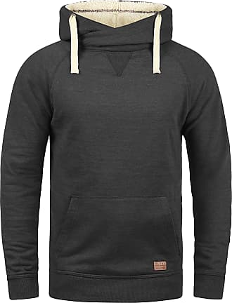 Blend Blend 703585ME Sales Mens Pullover with Hood Hoodie Sweatshirt in High-Quality Cotton Blend - Grey - 40