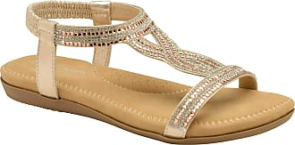 Dunlop Flip Flops Toe Post Slip On Sandals Flat Cushioned (Cynthia Rose Gold, Numeric_6)