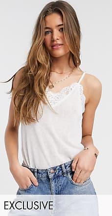 Y.A.S. Tall Debra lace cami top-White