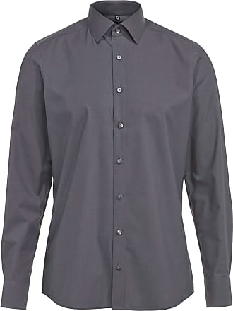 Olymp Olymp Mens Shirt Level 5 Body Fit Long Sleeve - Grey - 38
