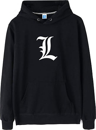 Haililais Death Note Pullover Pullover Sweatshirt Long Sleeve Sweater Outerwear Adult Casual Sports Fashion Wild Warm Men and Women Unisex (Color : Black01, Siz