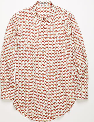 Acne Studios FN-WN-BLOU000318 Pink/red Fil-coupe shirt