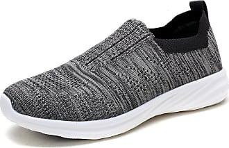 Dream Pairs Womens Slip On Trainers Mesh Lightweight Casual Walking Nursing Shoes 171114-W Grey Size 7.5 US / 5.5 UK