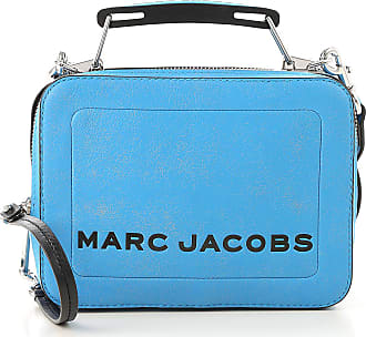 Marc Jacobs Top Handle Handbag On Sale, Bright Blue, Leather, 2017, one size