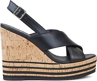 Hogan Wedge-Sandalen, SCHWARZ, 35.5 - Schuhe
