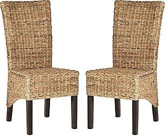 Safavieh Home Collection Kiska Natural Dining Chair (Set of 2)