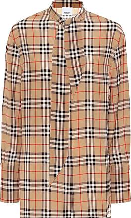 Burberry Check silk blouse