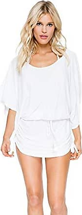 Luli Fama Womens Cosita Buena South Beach Cover-Up Dress, White, Large