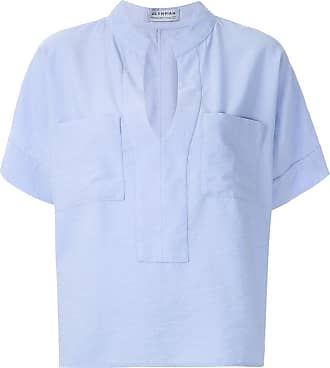 OLYMPIAH Blusa Maggiolina com bolsos - Azul