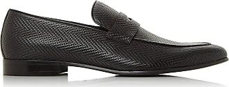 Dune London Dune Mens Sand Woven Loafer Size UK 10 Black Flat Heel Loafers