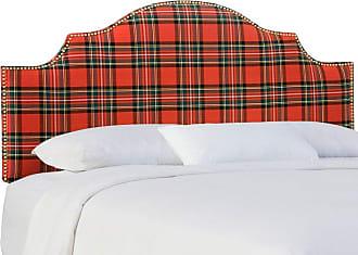 Skyline Furniture Nail Button Notched Headboard - Ancient Stewart Red, Size: Queen - 832NB-GDANCSTWRD
